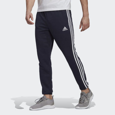 Heren Sportswear blauw Essentials French Terry Tapered 3-Stripes Broek