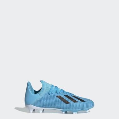 Zapatos de Fútbol X 19.3 Terreno Firme (UNISEX) Turquesa Niño Fútbol