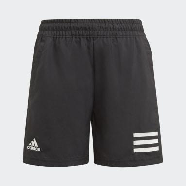 Shorts de Tenis Club 3 Tiras Negro Niño Tenis