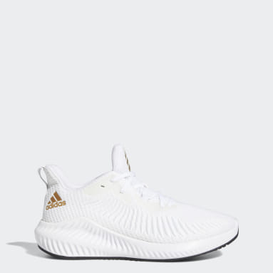 Women Running White Alphabounce+ Shoes