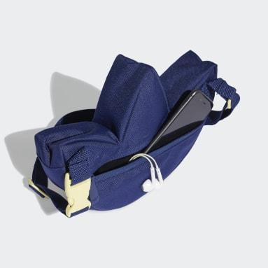 Kids Originals Blue Trefoil Camo Sling Bag