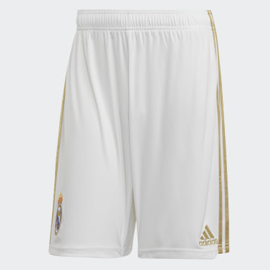 Shorts Uniforme Titular Real Madrid Blanco Hombre Fútbol