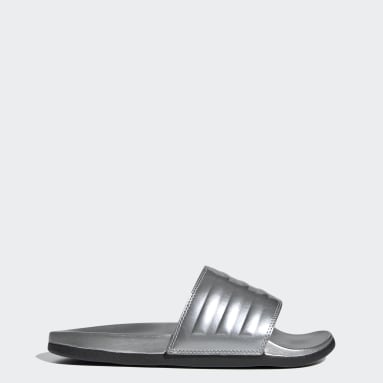 Ženy Plavání stříbrná Pantofle adilette Comfort