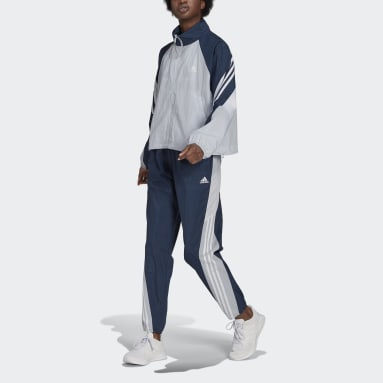 Frauen Sportswear adidas Sportswear Game-Time Woven Trainingsanzug Blau