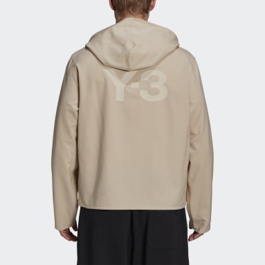 Men Y-3 Beige Y-3 Classic Stretch Hooded Windbreaker
