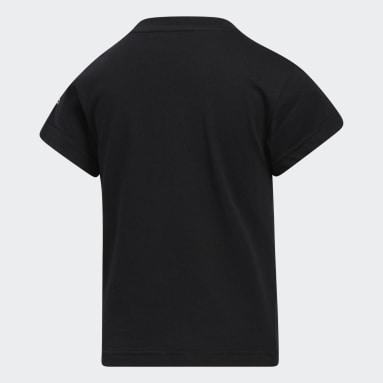 Jongens Originals Zwart Adicolor 3D Trefoil T-shirt