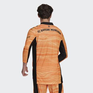 Men Football Orange FC Bayern 21/22 Goalkeeper Jersey