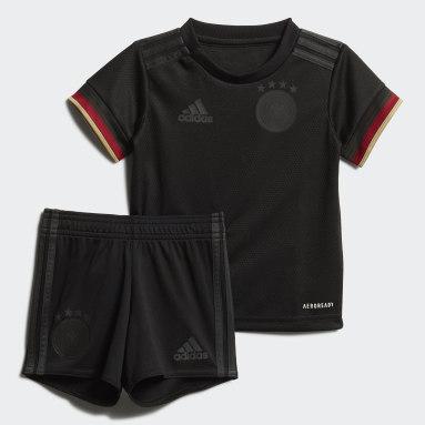 Equipamento Alternativo da Alemanha para Bebé Preto Criança Futebol