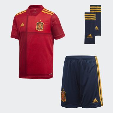Kinder Fußball Spanien Mini-Heimausrüstung Rot