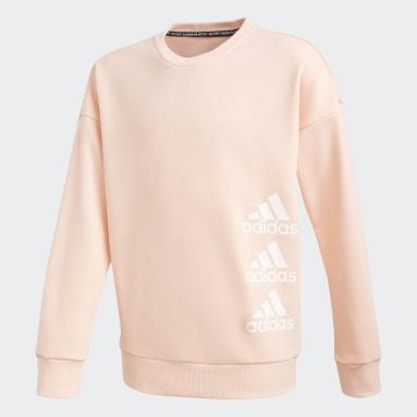 Sweatshirt Must Haves Rosa Raparigas Ginásio E Treino