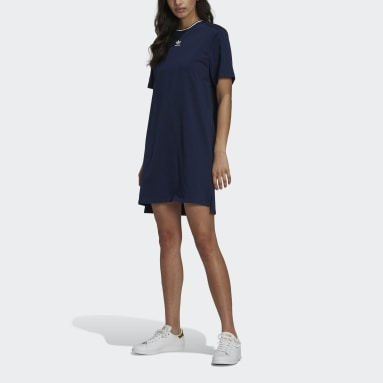 Frauen Originals Tennis Luxe T-Shirt-Kleid Blau