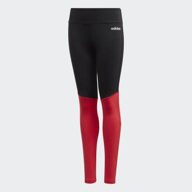 Calzas Largas Cardio - Tiro Medio Negro Niña Training