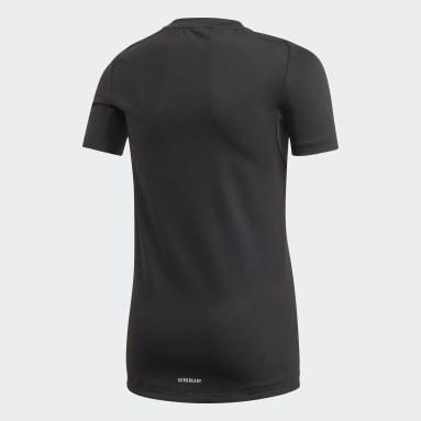 T-shirt TECHFIT Nero Ragazzo Yoga