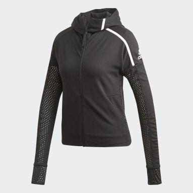 Women Sportswear Black adidas Z.N.E. Fast-Release Mesh Hoodie