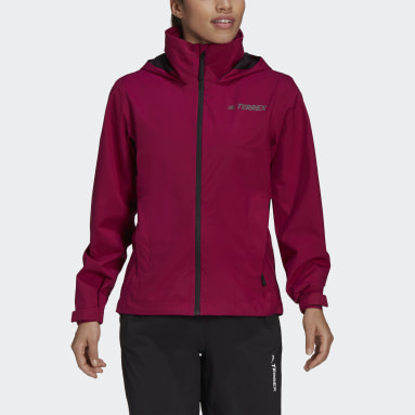 Giacca impermeabile Terrex Multi RAIN.RDY Primegreen Two-Layer Bordeaux Donna TERREX
