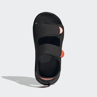 เด็ก ว่ายน้ำ สีดำ รองเท้าแตะริมสระ