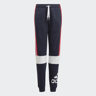 Boys Sport Inspired Blue adidas Essentials Colorblock Pants