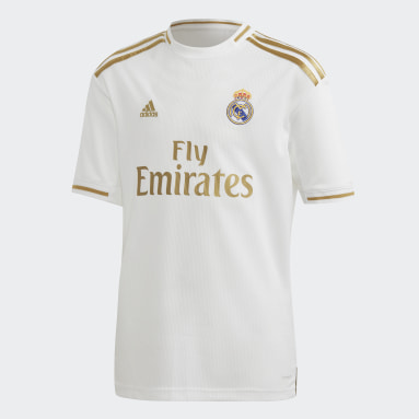 Barn Fotboll Vit Real Madrid Home Youth Kit