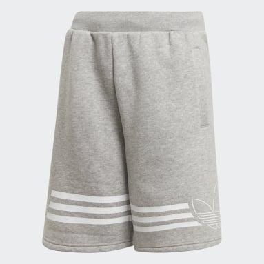 Boys Originals Grey Outline Shorts