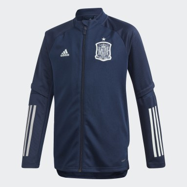 Kids Football Blue Spain Training Track Top
