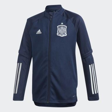Kinderen Voetbal Blauw Spanje Trainingsjack