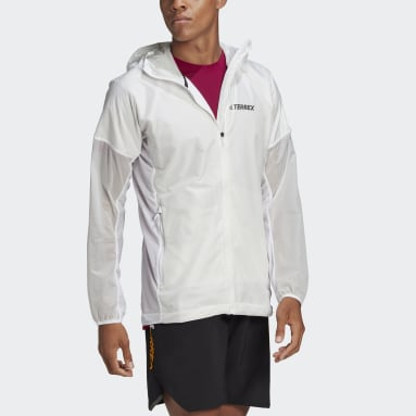 Men TERREX White Agravic Shield Jacket