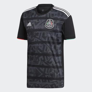 Männer Fußball Mexiko Heimtrikot Schwarz