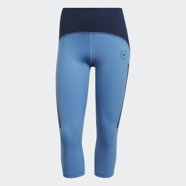 Women adidas by Stella McCartney Blue adidas by Stella McCartney TruePace HEAT.RDY Primeblue 3/4 Leggings
