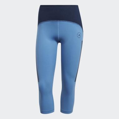 Frauen adidas by Stella McCartney adidas by Stella McCartney TruePace HEAT.RDY Primeblue 3/4-Tight Blau