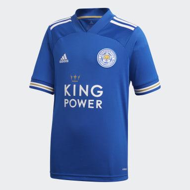 Camisola Principal do Leicester City FC Azul Criança Futebol