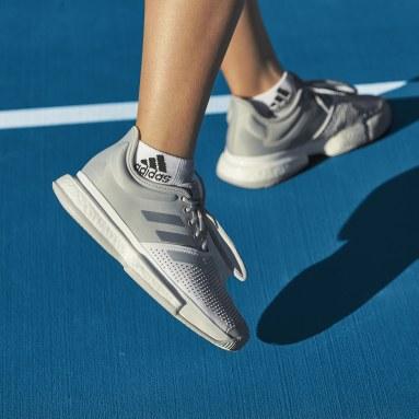 Frauen Originals SoleCourt Tennisschuh Grau