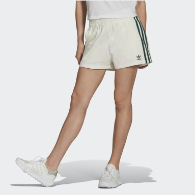 Dames Originals wit Tennis Luxe 3-Stripes Short
