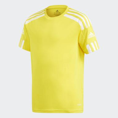 Youth 8-16 Years Football Yellow Squadra 21 Jersey