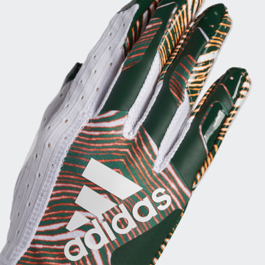 Football White Adizero 9.0 Zubaz Receiver Gloves
