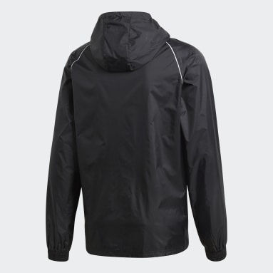 Men Training Black Core 18 Rain Jacket