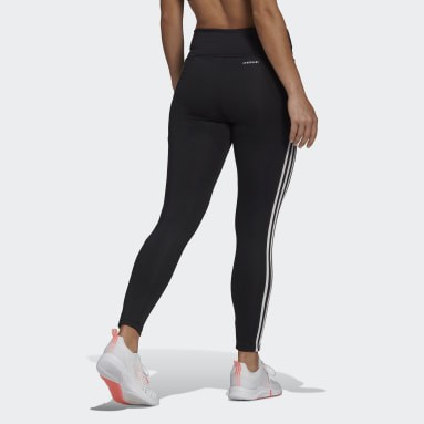 Dam Gym & Träning Svart Designed To Move High-Rise 3-Stripes 7/8 Sport Tights