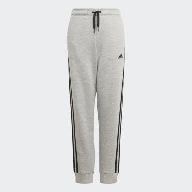 Calças 3-Stripes adidas Essentials Cinzento Rapazes Sportswear