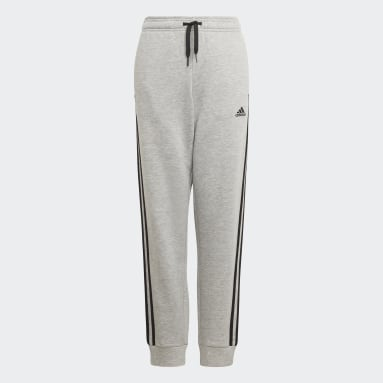 Pantaloni adidas Essentials 3-Stripes Grigio Ragazzo Sportswear