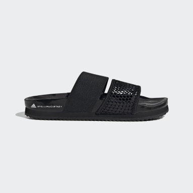 Women adidas by Stella McCartney Black adidas by Stella McCartney Lette Slides