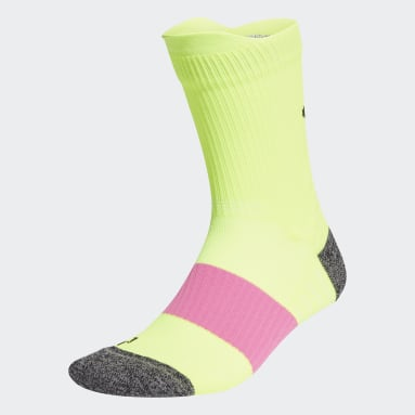 Running Yellow Running Ultralight Crew Performance Socks