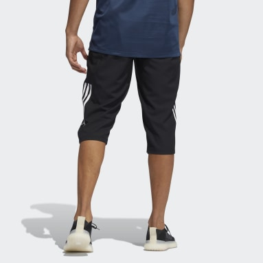 Men Training Black AEROREADY 3-Stripes Primeblue Capri Pants