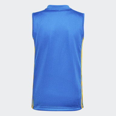 Children Basketball Blue Young Creators Legend Basketball Tank Top