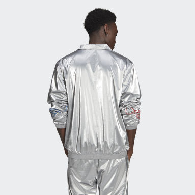 Men Originals Silver Adicolor Tricolor Track Jacket