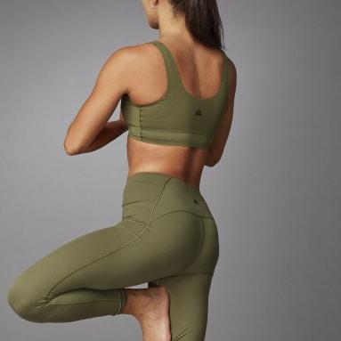Frauen Studio Cozy Yoga Sport-BH Grün