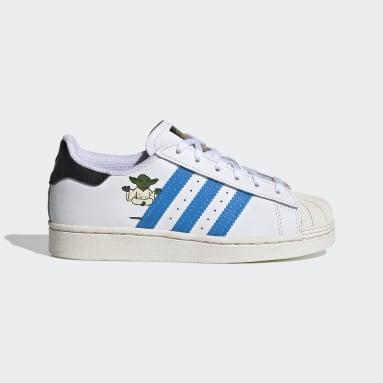 Children Originals White Superstar Star Wars Shoes
