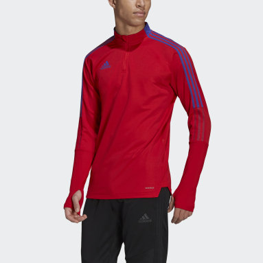 Heren Voetbal Rood Tiro Primeblue Training Shirt