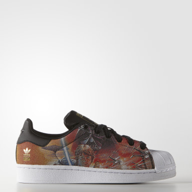 Barn Originals Svart Superstar Star Wars Shoes