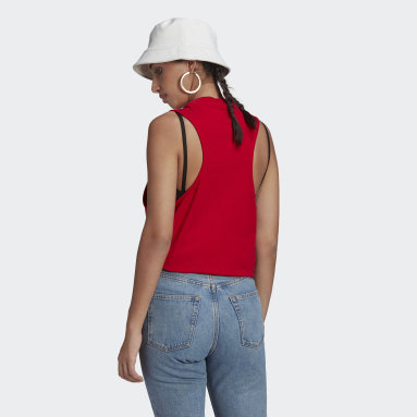 Women Originals Red Adicolor Classics Loose Tank Top
