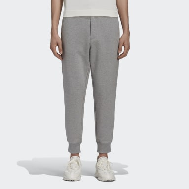 Men Y-3 Grey Y-3 Classic Terry Cuffed Pants
