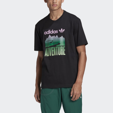 Men Originals Black adidas Adventure Mountain Logo Tee